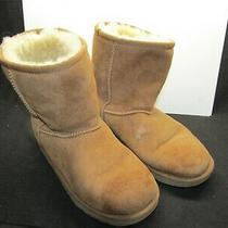 Ugg Australia Classic Short Ii Suede Sheepskin Boots Chestnut Size 4.  L48 Photo