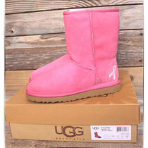 Ugg Australia Classic Short Raspberry Rose Pink Breast Cancer Boots Us 5 Uk 3.5 Photo