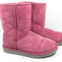 Ugg Australia Classic Short Sheepskin Boots Women Size 8 Pink Photo