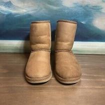 Ugg Australia Classic Short Suede Boots Girls Size 4 S/n 5251 Brown Chestnut  Photo