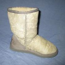 Ugg Australia Classic Short Suede Shearling Lined Boots Women's Sz 5 Photo