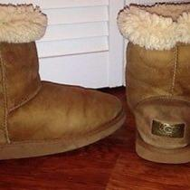 Ugg Australia Classic Short Women's Brown Shearling Insulated Boots Sz 7 Leather Photo