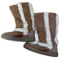 Ugg Australia Classic Tall Ii Women Winter Boots - Size 3 Chestnutwith Fur Trim Photo