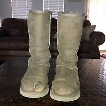 Ugg Australia Classic Tall Suede Boots for Womens Size 8 Gray Photo
