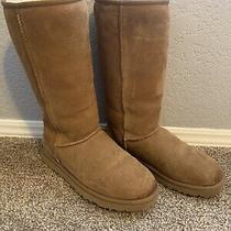 Ugg Australia Classic Tall Womens Boots - Size 8 Chestnut Photo