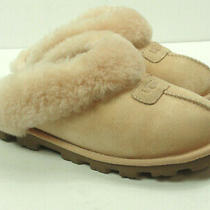 Ugg Australia Coquette Pink Leather Sheepskin Mule Slippers Size 6  Photo
