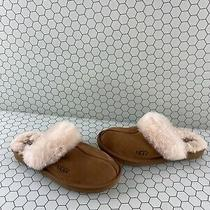 Ugg Australia Cozy Ii Chestnut Suede Shearling Lined Slip on Slippers Girls 6 Photo