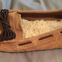Ugg Australia  Dakota Brown Pinch Moccasin Hard Sole Slippers Women's Us 7 Photo