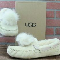 Ugg Australia Dakota Pom Pom Cream Moccasin Slipper Womens 1019015 Shoes Size 8 Photo
