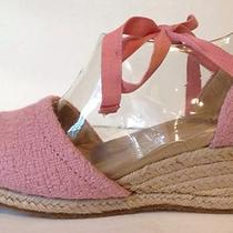 Ugg Australia Delmar Wedges Ankle Straps Sandals Size 7 Pink Blush Photo
