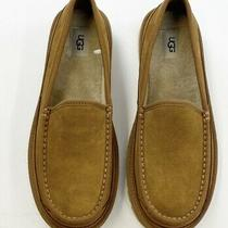 Ugg Australia Dex Suede Shearling Slippers Men's Size 10 Chestnut 1103901 Photo