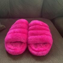 Ugg Australia Fluff  Womens Size 4 Pink Slides Slippers Shoes Photo