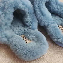 Ugg Australia Fluffy  5339 Women's Blue Slippers Shoes Size 5 Excellent Condit Photo