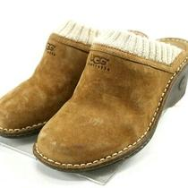 Ugg Australia Gael 90 Women's Mules Clogs Size 6 Suede Brown Photo