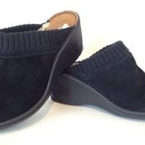 Ugg Australia Gael Clogs Women's Shoes Black Suede Size 7 New Photo