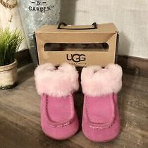 Ugg Australia Gage Rose Suede Winter Booties Infants Size 4/5 (12/18 Months) Photo
