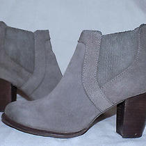 Ugg Australia Genuine Leather Booties-Size81/2m-Gray Color-Minor Wear-Authentic Photo