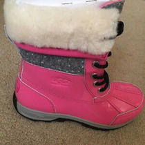 Ugg Australia Girl's Butte Ii Pink Snow Boots - 5 Youth - New Photo