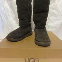 Ugg Australia Girls 5229 Classic Tall Shearling Brown Suede Boots Shoes Size 13 Photo