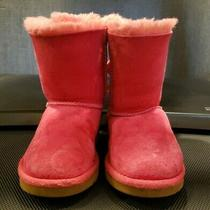 Ugg Australia Girls Bailey Bow Pink Boots Shoes Us Size 11 Youth Photo