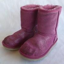 Ugg Australia Girls Classic Glitter Boots 1002496 Us 12 Photo