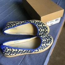 Ugg Australia Indah Marrakech Flats Gently Worn W/box Blue & Cream Laced Heel Photo