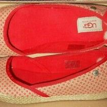 Ugg Australia Indah Polka Dot Tomato Red Corset Laceballet Flat Shoes Us 9 - 40 Photo
