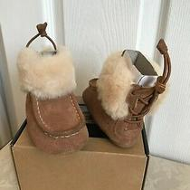 Ugg Australia Infant Gage Booties Chestnut Size 2/3 6-12 Months Nib Photo