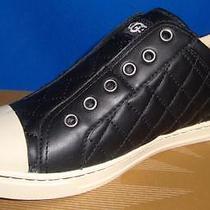 Ugg Australia Jemma Quilted Black Leather Sneakers Size Us 7 Eu 38 Nib 1009239 Photo