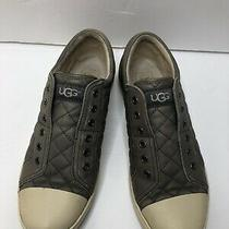 Ugg Australia Jemma Quilted Leather Sneaker Grey Women Sz 8.5 1049 Photo