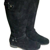 Ugg Australia Jillian Knee High Boots Black Suede Side Zip Size Us 7.5/ Eu 38.5 Photo