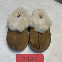 Ugg Australia K Cozy 5236 Chestnut Brown Leather/sheepskin Kids Size 12 Photo