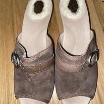 Ugg Australia Katherine Women's Open Toe Suede Mules Clogs Chestnut  - Sz 8 Vguc Photo