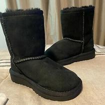 Ugg Australia Kid's Black Classic Short Ii Boot Size 7 Photo