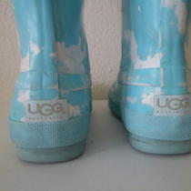 Ugg Australia Kids  Rain / Snow  Boots Sky Blue Print - Size 2 Youth  Photo