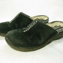 Ugg Australia Kohala Black Suede Leather Sheepskin Clog Mule Shoes Us 8 Eu 39 Photo