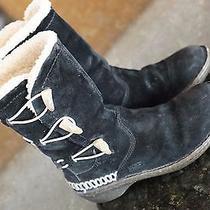 Ugg Australia Kona Shearling Black Leather Boots Style 5183 Sz 6 Uggs Insulated  Photo