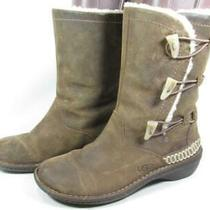 Ugg Australia Kona Shearling Boots Women Size 8 Brown Photo