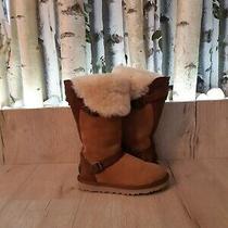 Ugg Australia Ladies Waterproof Brown Leather Boots Size Us-5 Eu-36 Uk-35 Photo