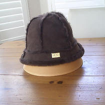 Ugg Australia Leather Hat Chocolate Brown Like New Never Worn Real Leather  Photo