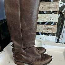 Ugg Australia Leigh Boot Riding 1098315 Women's Brown Leather Tall Boots Sz 6.5 Photo