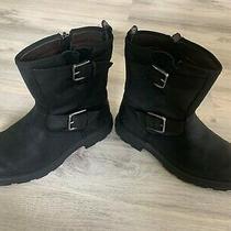 Ugg Australia Men's Biltmore Moto Black Waterproof Leather Boots 1106808 Photo