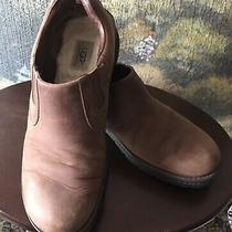 Ugg Australia Men's Brown Leather Slip-on Shoes Model S/n 5906 Size 13 Photo