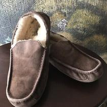 Ugg Australia Mens Ascot Shoes Moccasin Slippers Taupe Suede Leather Sz 12 5775 Photo