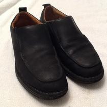 Ugg Australia Mens Black Leather Shoe - Size 10 - Sheepskin Lined Photo