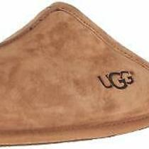 Ugg Australia Mens Scuff Leather Closed Toe Slip on Slippers Chestnut Size 7.0 Photo