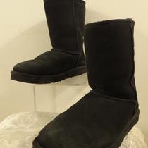 Ugg Australia Mid-Calf  Womens Black Leather Winter Boot Boots Size 11 5800 Photo