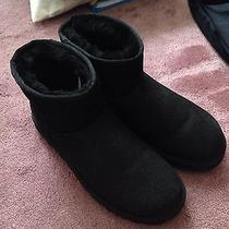 Ugg Australia Mini Black Boots Sz 10 Photo