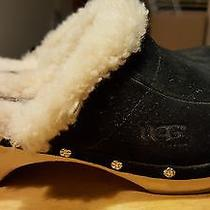 Ugg Australia Mules Black Size 4 Leather and Suede Women 2