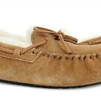 Ugg Australia Olsen Chestnut Suede Fur Slippers Mens Size 12 Nib Photo